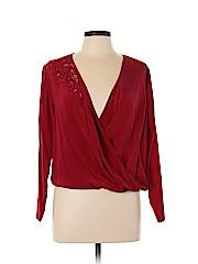 The Kooples Long Sleeve Silk Top
