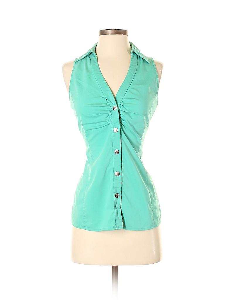 Bisou Bisou Women Sleeveless Blouse Size S