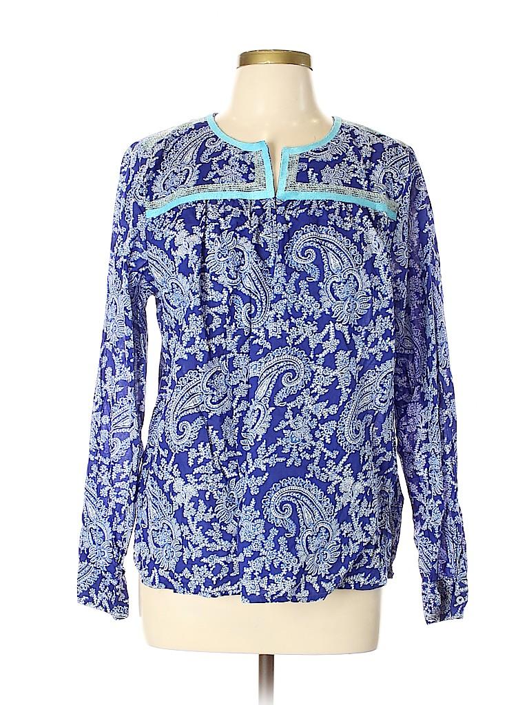 J. Crew Factory Store Women Long Sleeve Blouse Size L