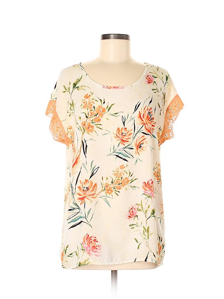 Tacera Women Short Sleeve Blouse Size S