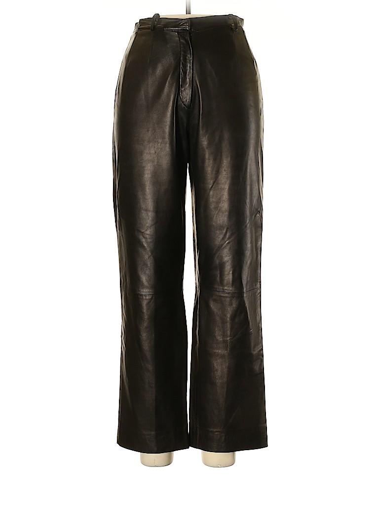 Loro Piana Women Leather Pants Size 48 (IT)