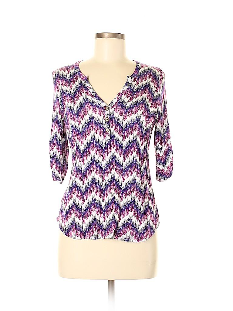 Pixley Women 3/4 Sleeve Henley Size S