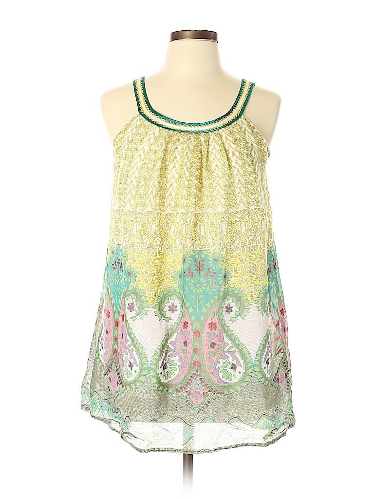 Aryeh Women Sleeveless Silk Top Size L
