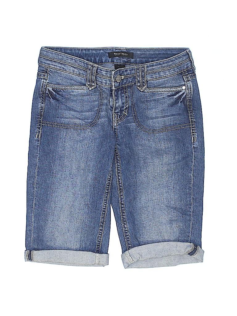 fef31b9065 White House Black Market Solid Dark Blue Denim Shorts Size 00 - 79 ...