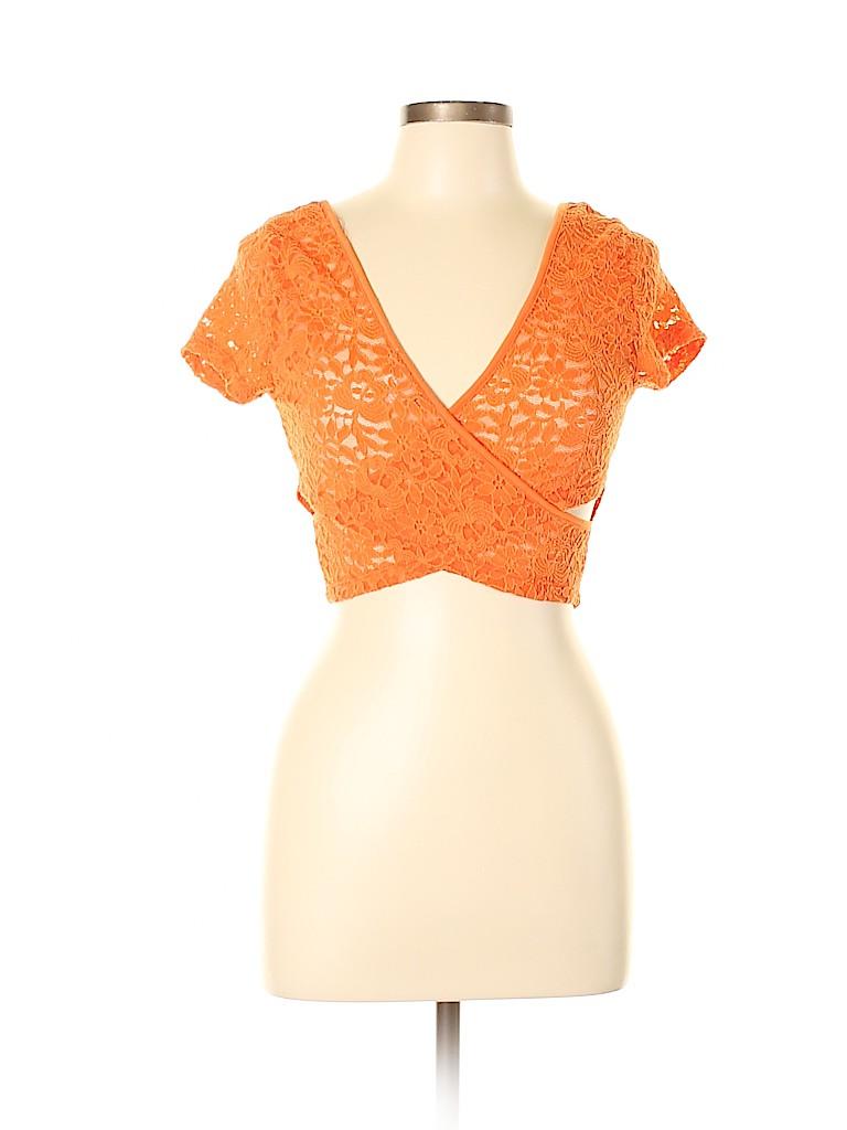 Body Central Women Short Sleeve Blouse Size L