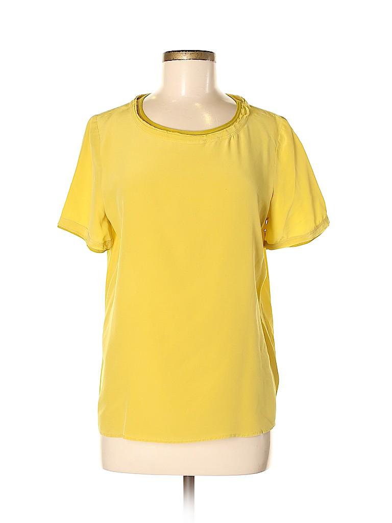 Broadway & Broome Women Short Sleeve Silk Top Size M