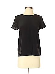 Sézane Short Sleeve Silk Top