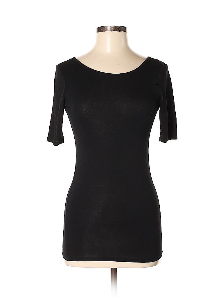 Aqua Women Short Sleeve Top Size M