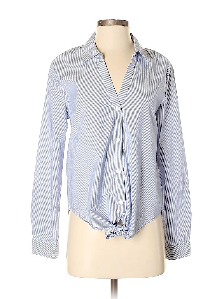 Sofft Women Long Sleeve Button-Down Shirt Size S