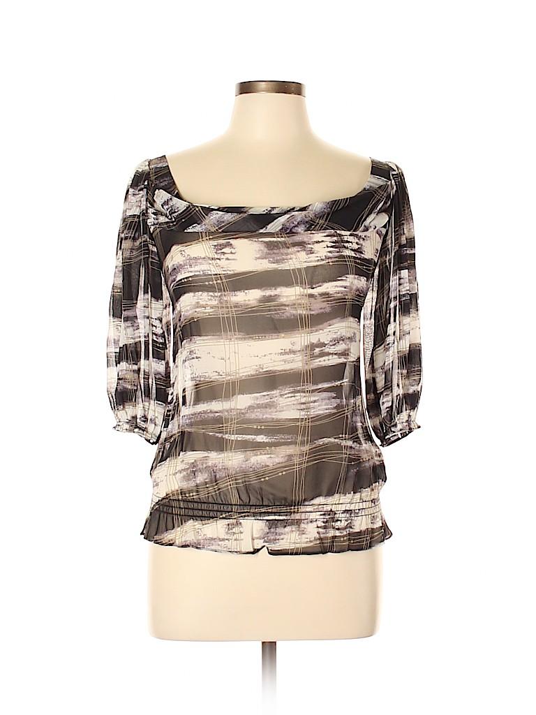 Ted Baker London Women 3/4 Sleeve Silk Top Size 4 (1)