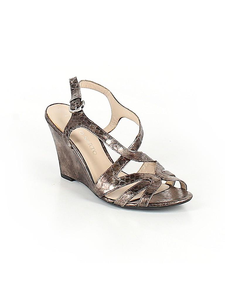 75b782e2b527 Franco Sarto Animal Print Silver Wedges Size 6 1/2 - 70% off | thredUP