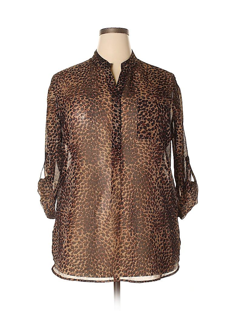 Mix & CO Women 3/4 Sleeve Blouse Size 2X (Plus)