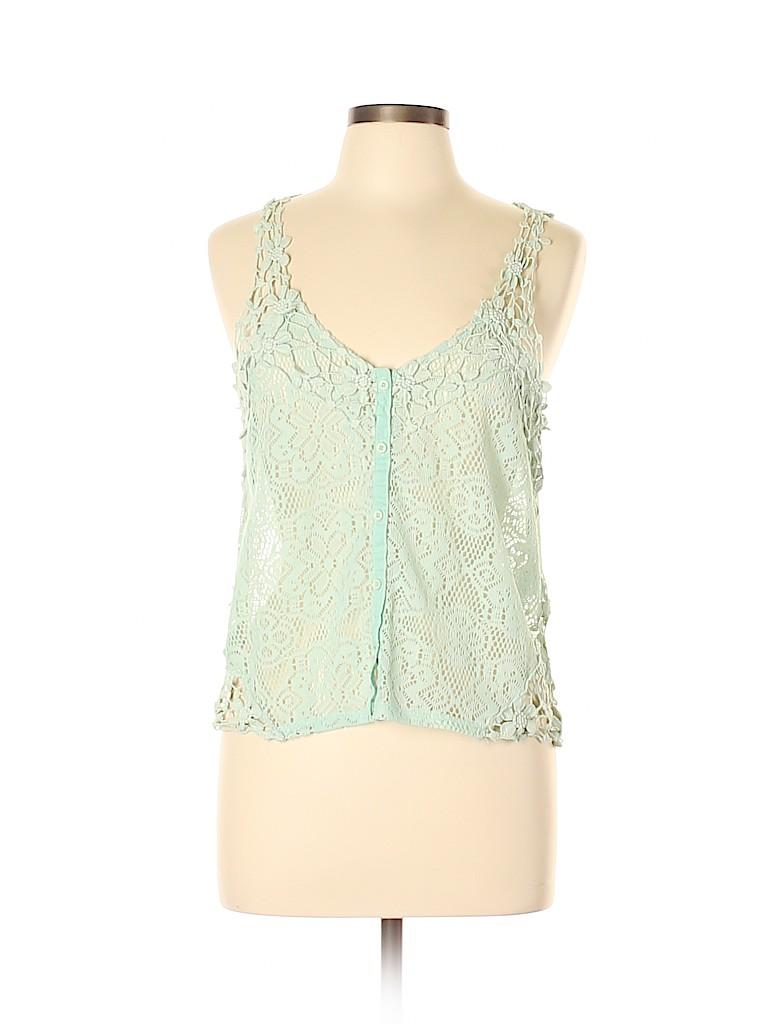 951c42d1ba9635 Kimchi Blue 100% Polyester Blue Sleeveless Blouse Size M - 88% off ...