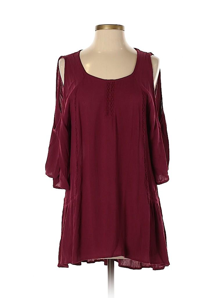 Charming Charlie Women Short Sleeve Blouse Size S