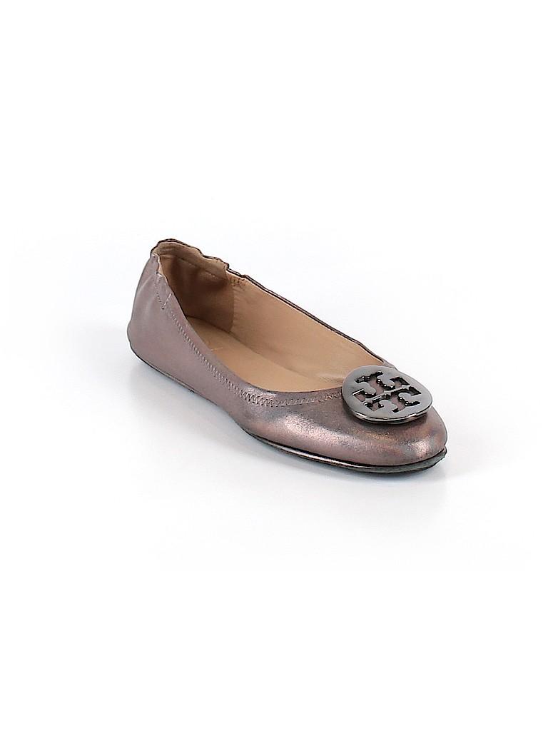 525cc4e059b Tory Burch Solid Gray Flats Size 7 - 58% off