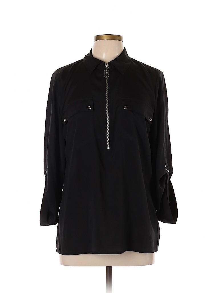 MICHAEL Michael Kors Women Long Sleeve Blouse Size L