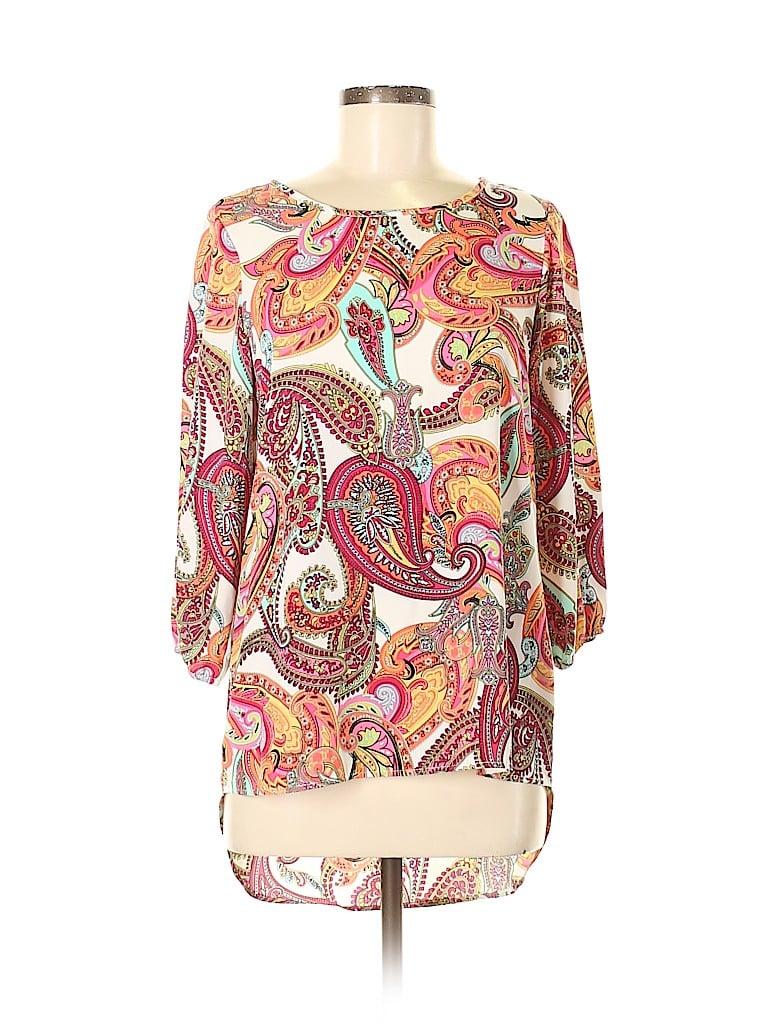 Newbury Kustom Women 3/4 Sleeve Blouse Size M