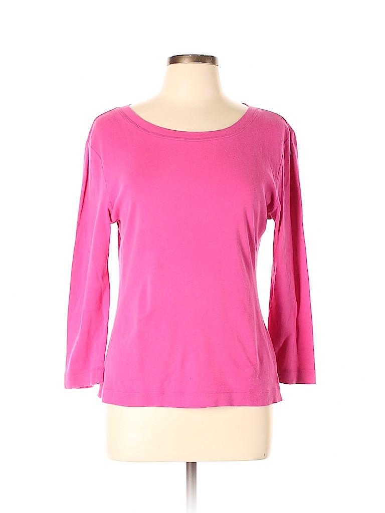 Tory Burch Women 3/4 Sleeve T-Shirt Size L