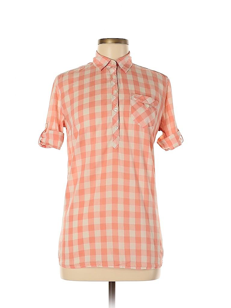Unbranded Women Short Sleeve Button-Down Shirt Size M