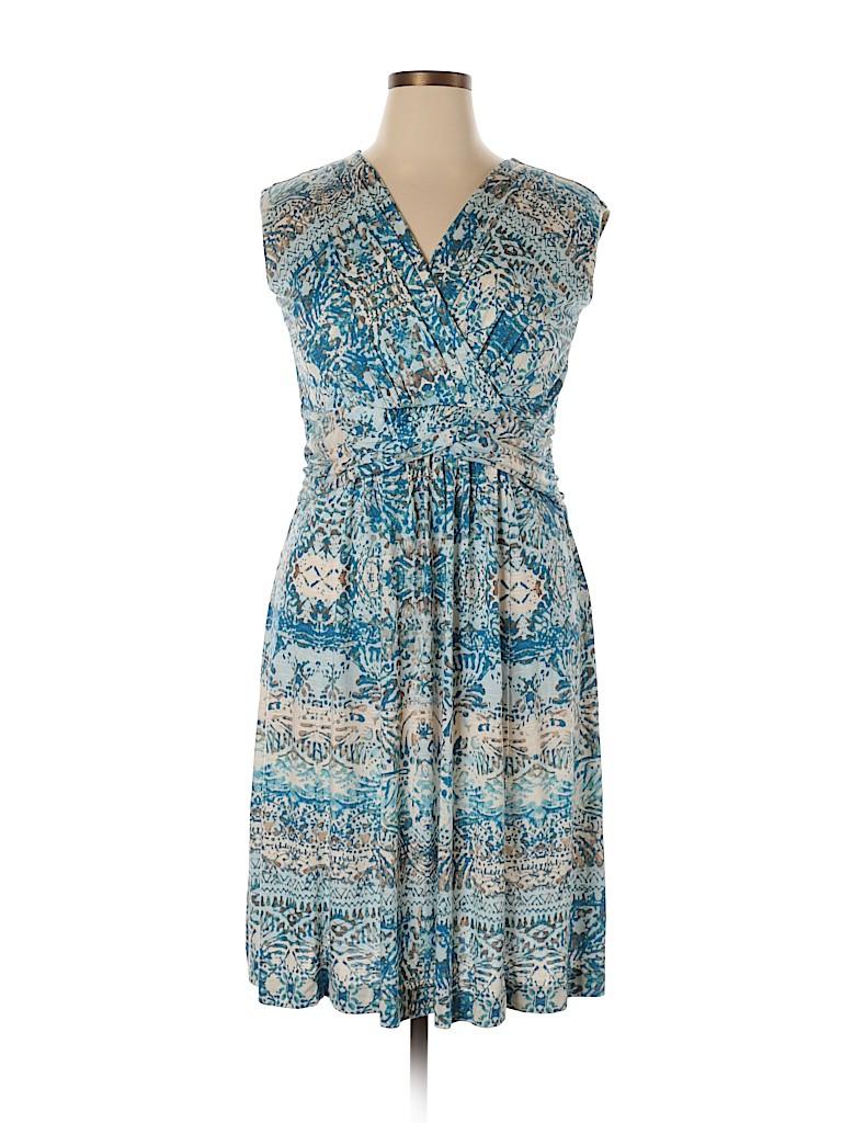 Nic + Zoe Women Casual Dress Size 1X (Plus)