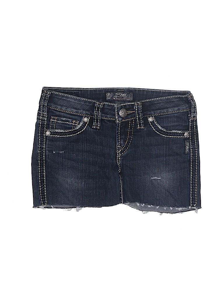 Silver Jeans Co. Women Denim Shorts 25 Waist