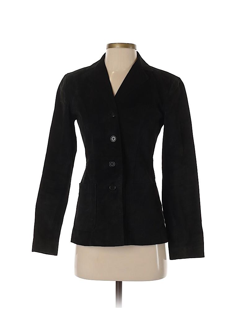 Ann Taylor LOFT Women Leather Jacket Size 0