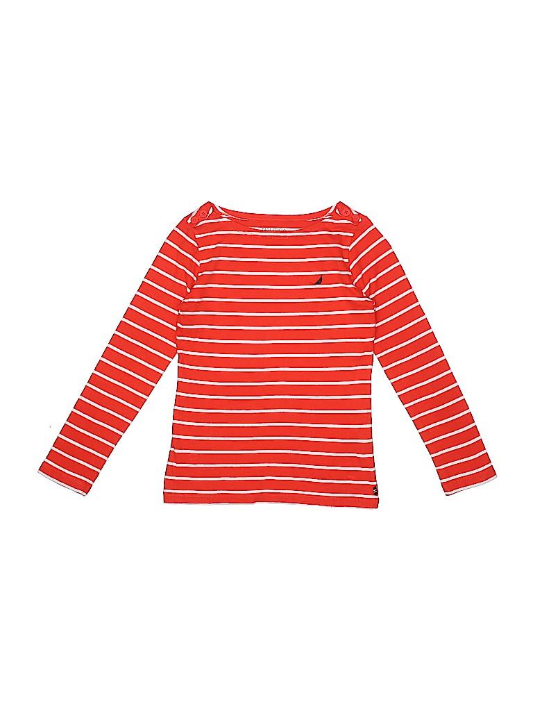 Nautica Girls Long Sleeve T-Shirt Size 8