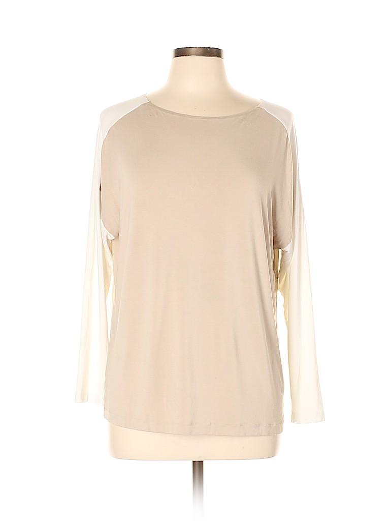 Lafayette 148 New York Women 3/4 Sleeve T-Shirt Size L