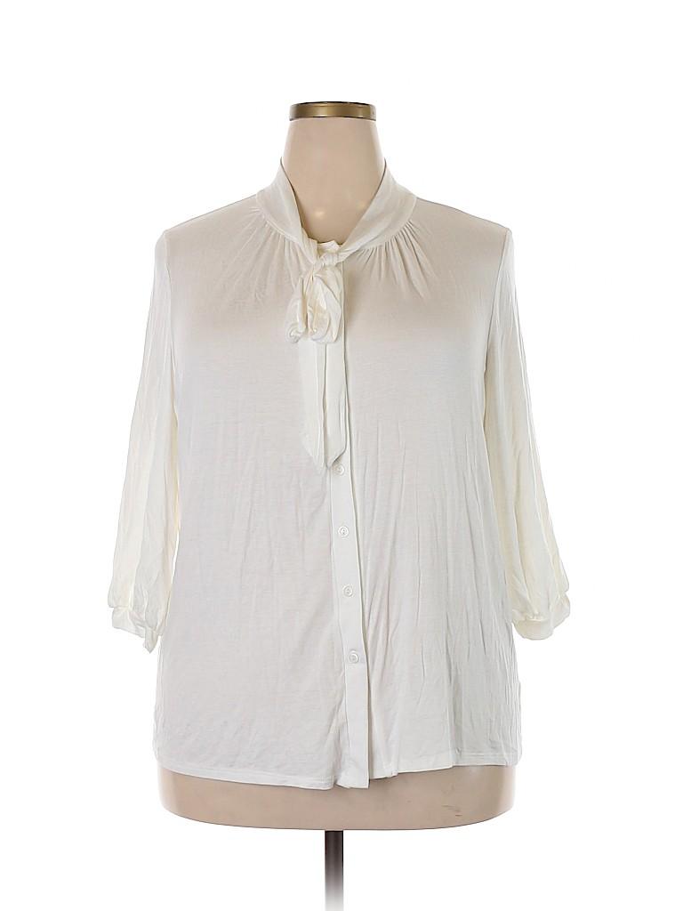Fervour Women Short Sleeve Top Size 1X (Plus)