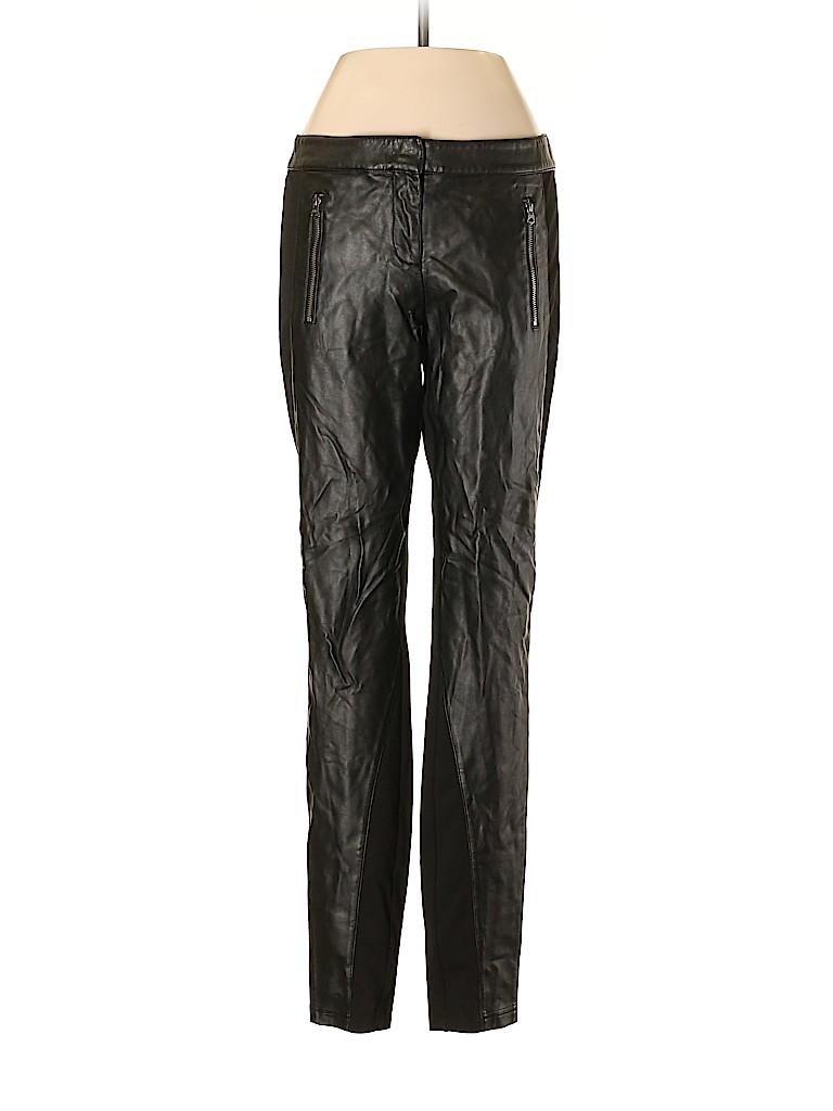 Armani Exchange Women Faux Leather Pants Size 4
