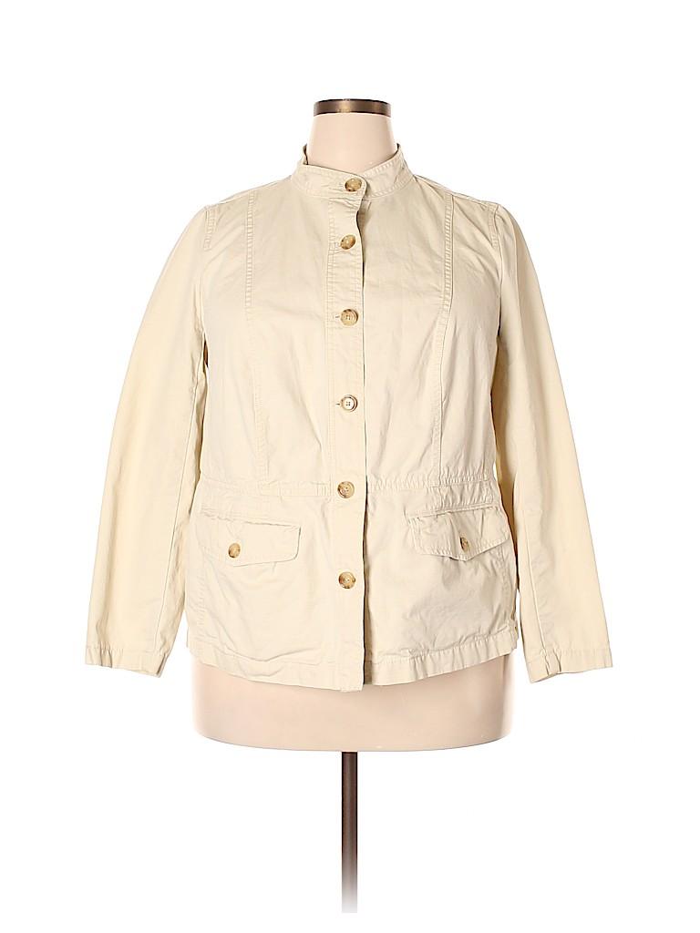 Talbots Women Jacket Size 1X (Plus)