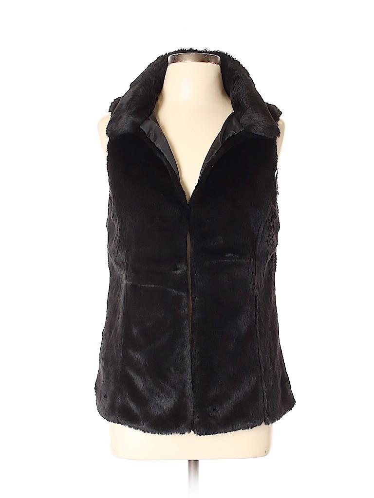 Ann Taylor LOFT Women Faux Fur Vest Size L