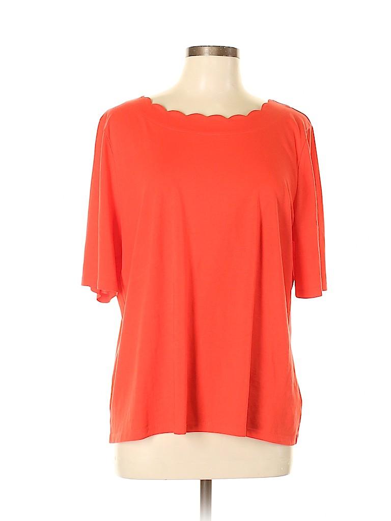 Talbots Women Short Sleeve Top Size XL