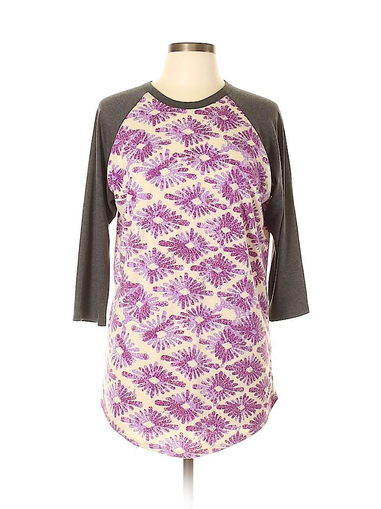Lularoe Women 3/4 Sleeve T-Shirt Size L