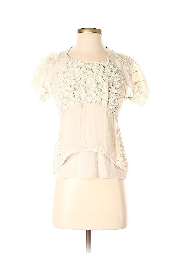 Vivienne Tam Women Short Sleeve Blouse Size XS (0)