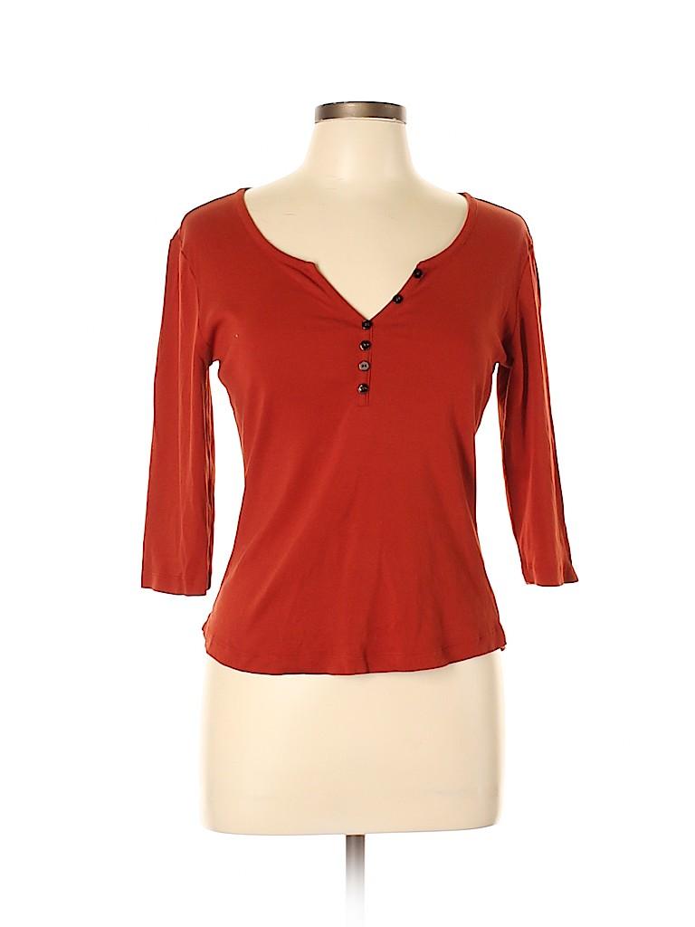 Fervour Women 3/4 Sleeve Henley Size L