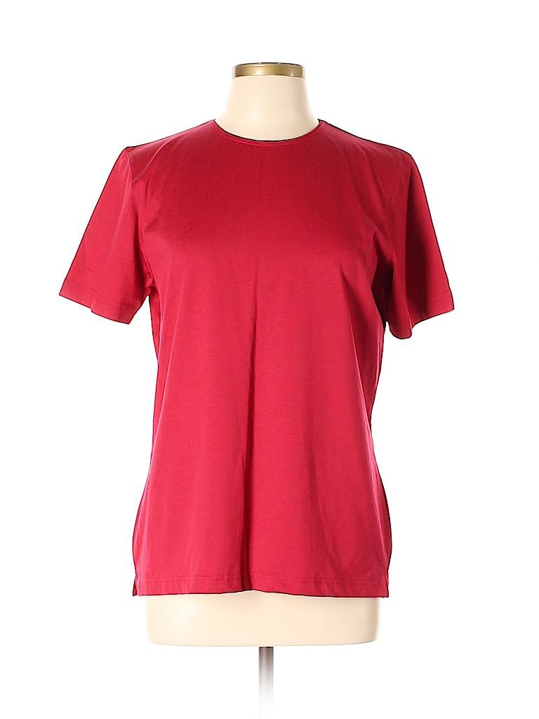 Talbots Women Short Sleeve T-Shirt Size L