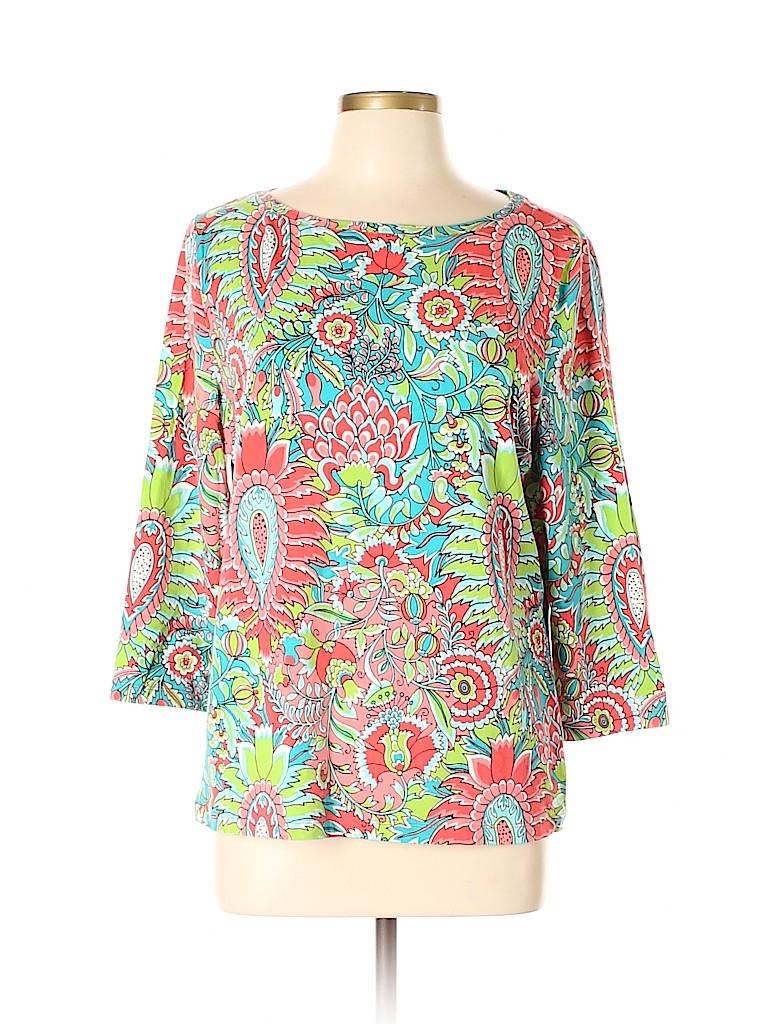 Talbots Women 3/4 Sleeve Top Size XL