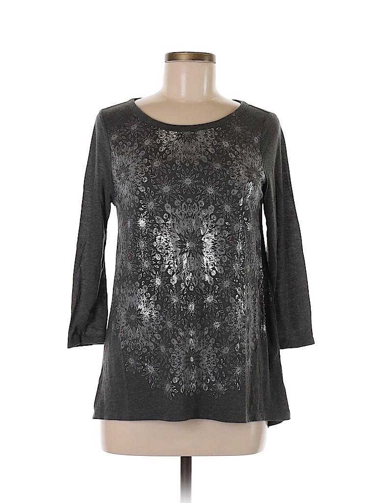 Lucky Brand Women 3/4 Sleeve Top Size 9