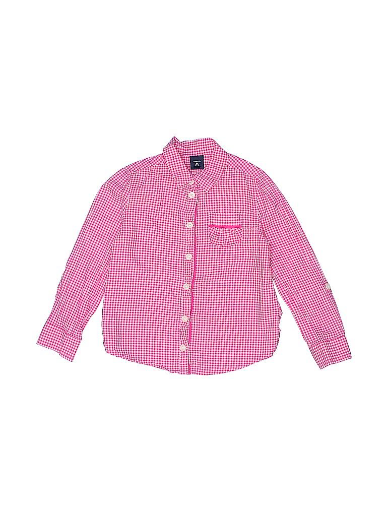 Gap Kids Girls Long Sleeve Button-Down Shirt Size X-Small (Kids)