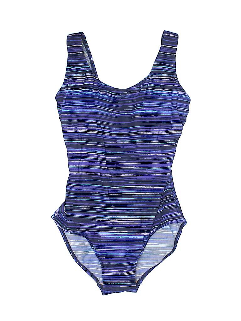 50a4e6e916 L.L.Bean Stripes Blue One Piece Swimsuit Size 8 - 48% off | thredUP