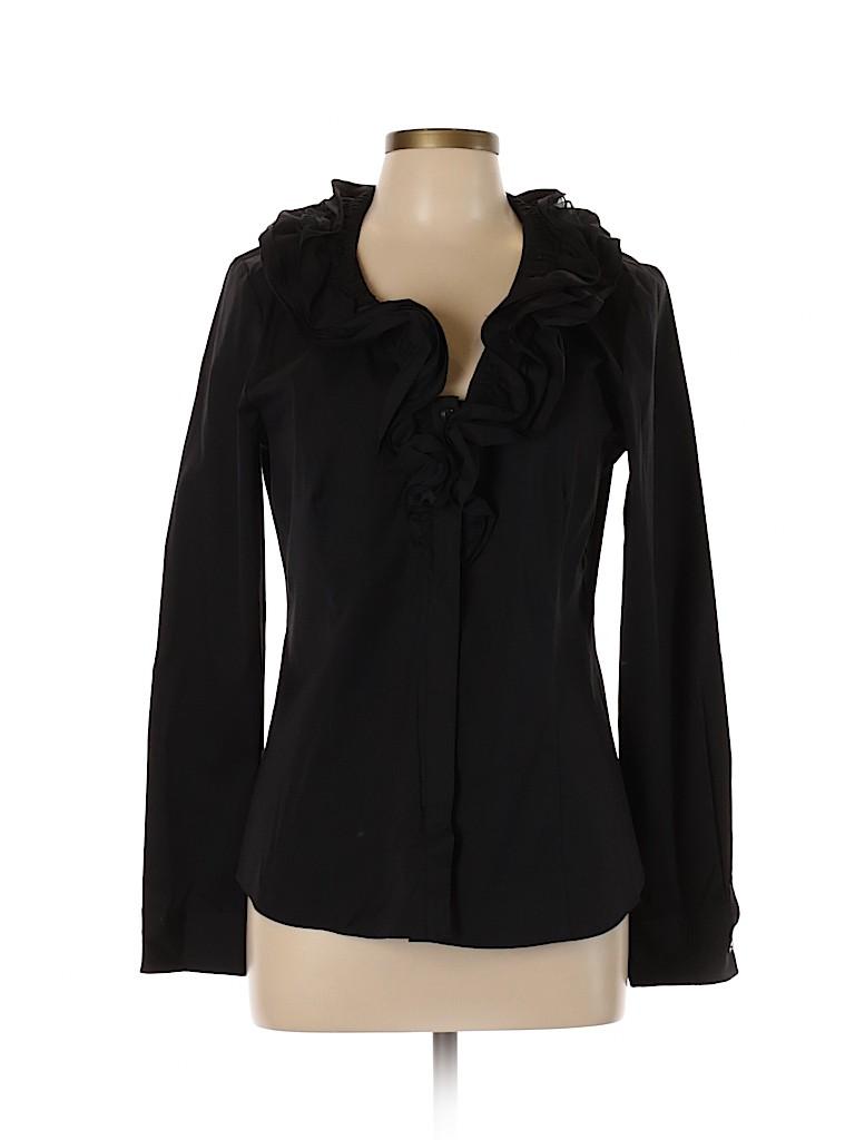 Lafayette 148 New York Women Long Sleeve Top Size 10
