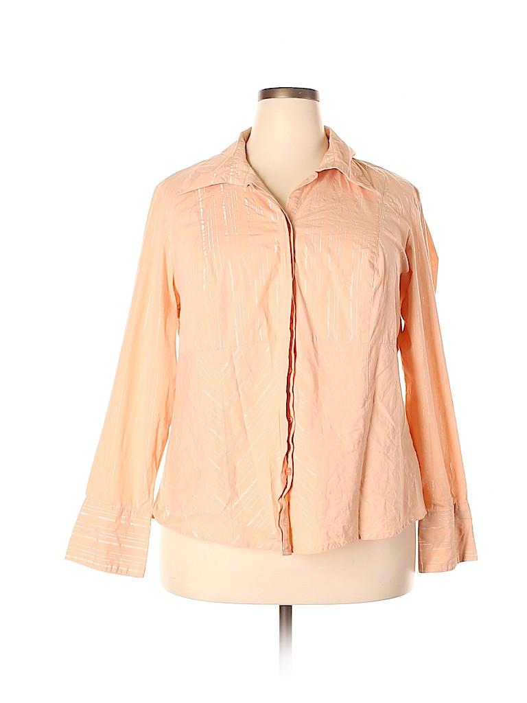 Lane Bryant Women Long Sleeve Button-Down Shirt Size 18 - 20 Plus (Plus)