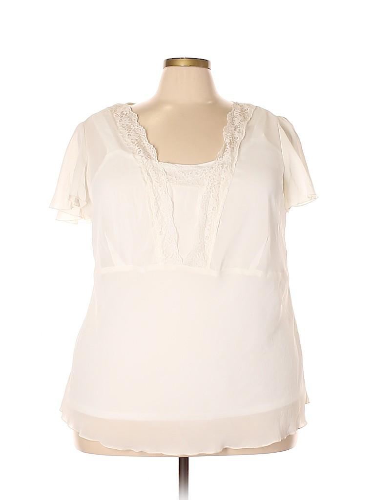 I.N. Studio Women Short Sleeve Blouse Size 1X (Plus)