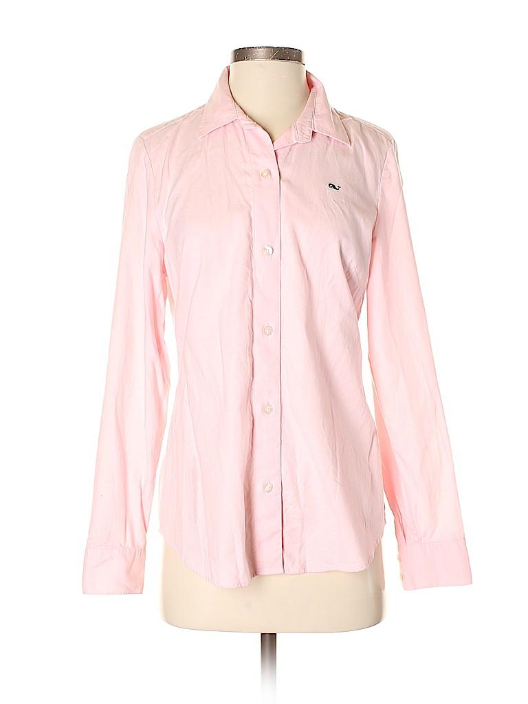 Vineyard Vines Women Long Sleeve Button-Down Shirt Size 4