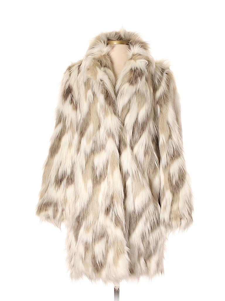 T Tahari Women Faux Fur Jacket Size S