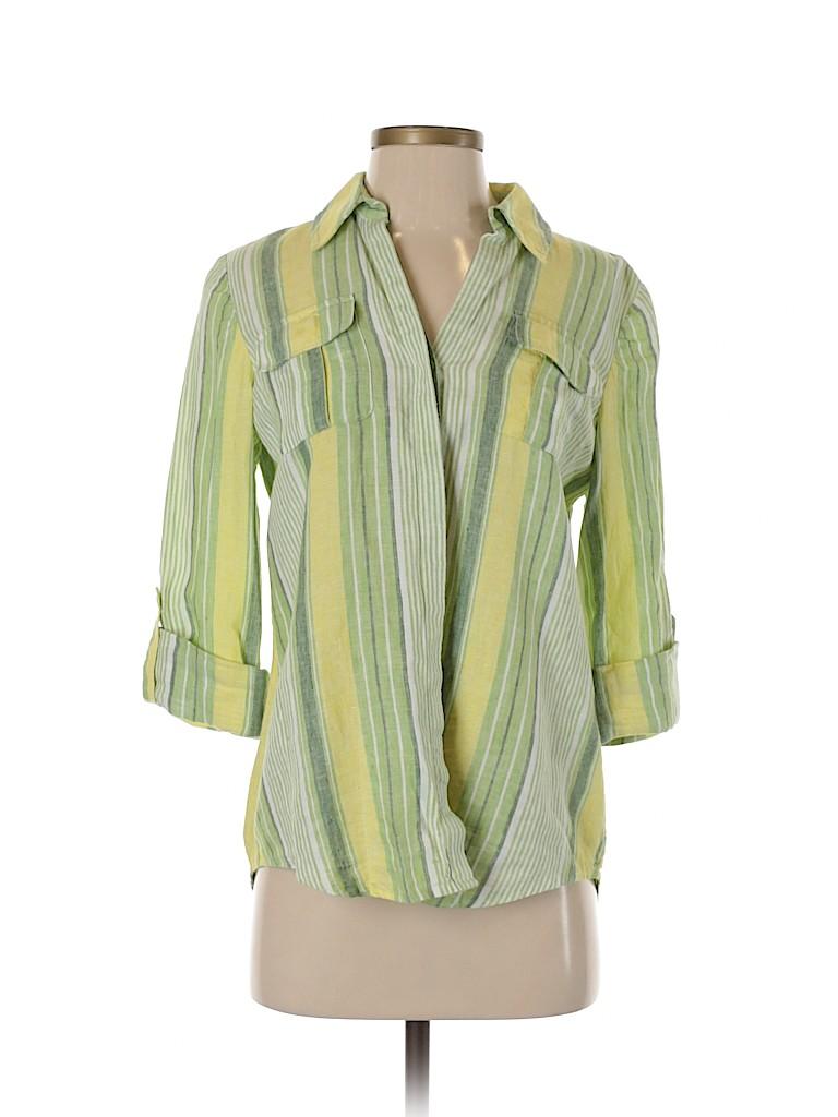 Jones New York Signature Women 3/4 Sleeve Button-Down Shirt Size S