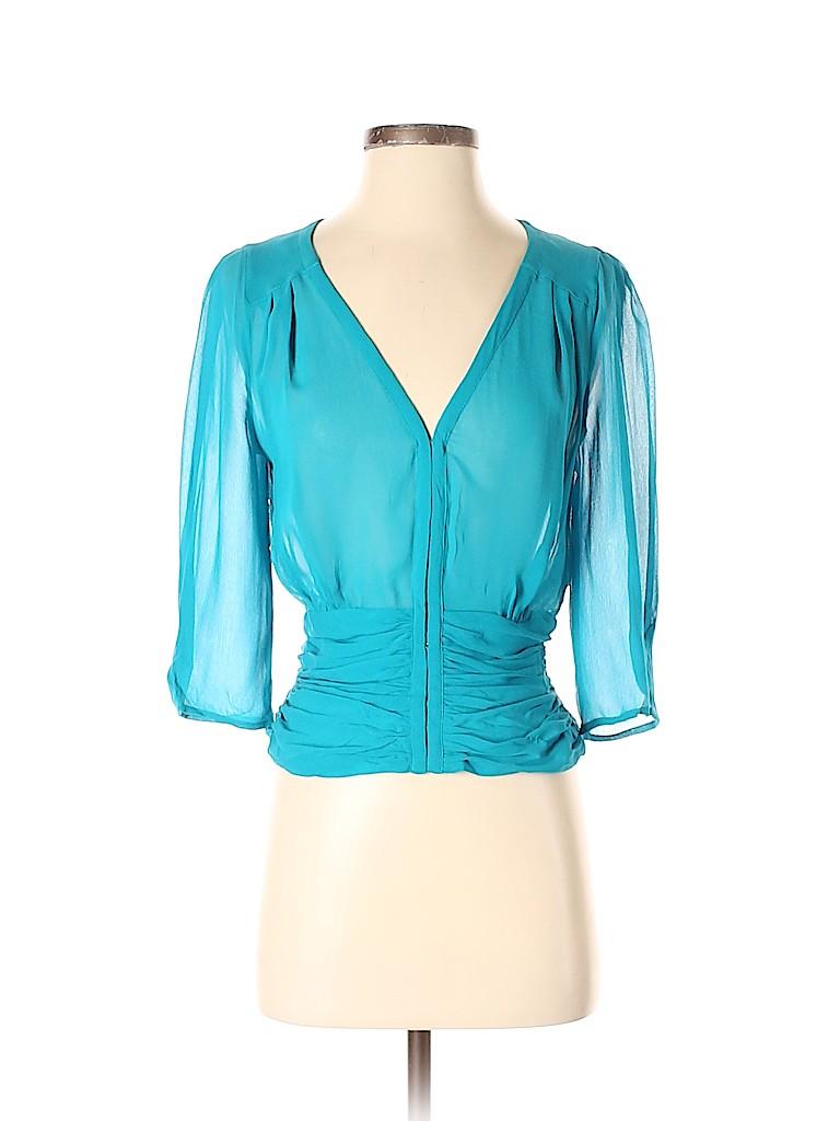 Armani Exchange Women 3/4 Sleeve Silk Top Size S