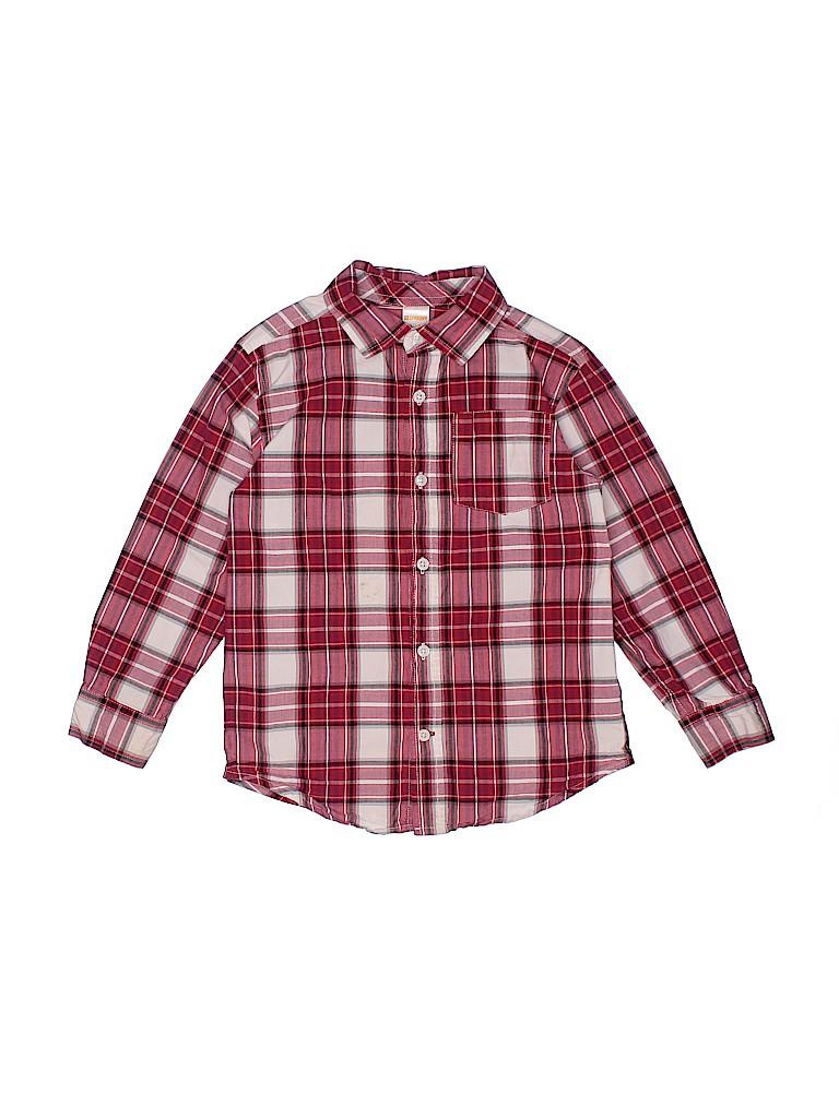 Gymboree Outlet Boys Long Sleeve Button-Down Shirt Size 5-6