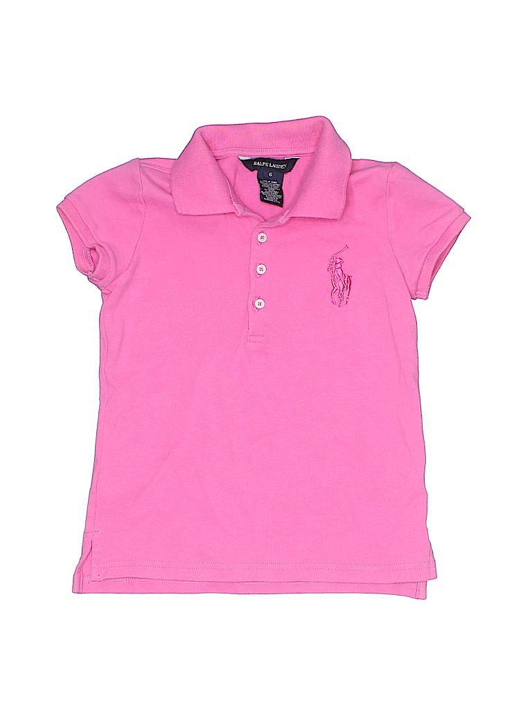 Ralph Lauren Girls Short Sleeve Polo Size 6
